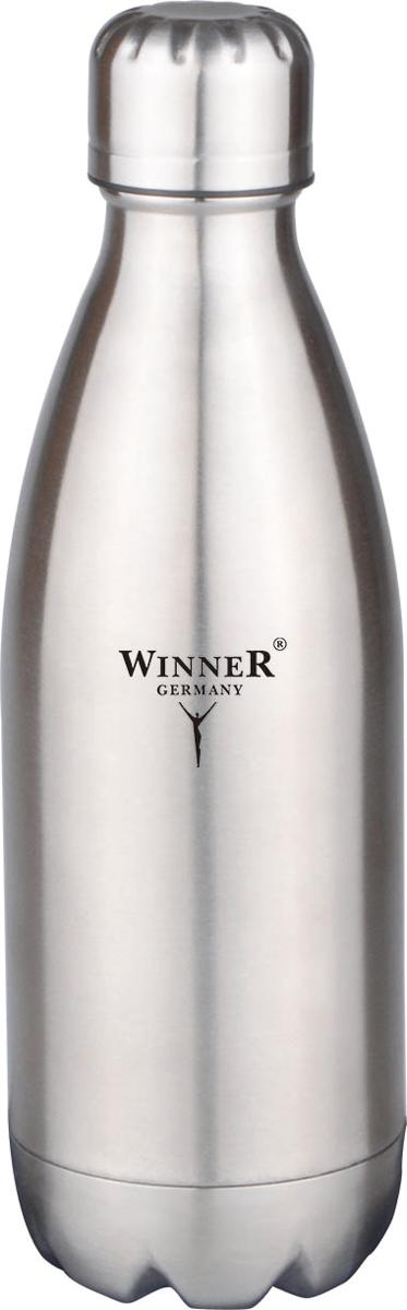 Термос-бутылка Winner, 0,75 л. WR-8201WR-8201750мл, двойные стенки, крышка с винтовой пробкой. Состав: нержавеющая сталь.