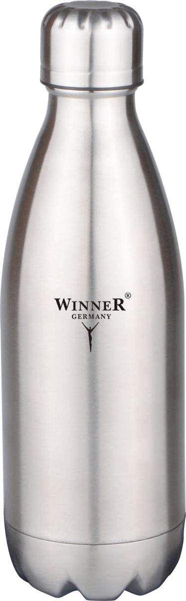 Термос-бутылка Winner, 1 л. WR-8202WR-82021000мл, двойные стенки, крышка с винтовой пробкой. Состав: нержавеющая сталь.