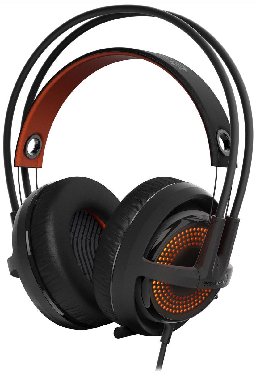 SteelSeries Siberia 350, Black игровые наушники51202Игровые наушники SteelSeries Siberia 350 обеспечат максимальный комфорт при использовании. Невероятно прочный и удобный обод Siberia способствует многочасовой игре без малейшего намека на ощущения усталости и дискомфорта. Мощные динамики нового поколения от SteelSeries, объемное звучание которых обеспечивается за счет технологии DTS Headphone:X 7.1, способны в точности передавать даже самые мелкие игровые детали в вашей любимой игре.Чаши наушников Siberia 350 способны полностью изолировать вас от постороннего шума. Они оснащены амбушюрами с эффектом памяти, а их особая конструкция призвана усилить мощный глубокий бас. Музыка звучит красиво, а играть в Siberia 350 одно удовольствие – хорошо слышны и выстрелы, и шаги подкрадывающегося противника.Гибкий выдвигающийся микрофон отличается чистейшей звукопередачей. Он может быть легко включен или выключен при помощи специального переключателя на левой раковине наушников.Данная модель имеет систему подсветки с эффектом свечения ColorShift, а также с широчайшей палитрой, равной 16,8 млн всевозможных цветов и оттенков.