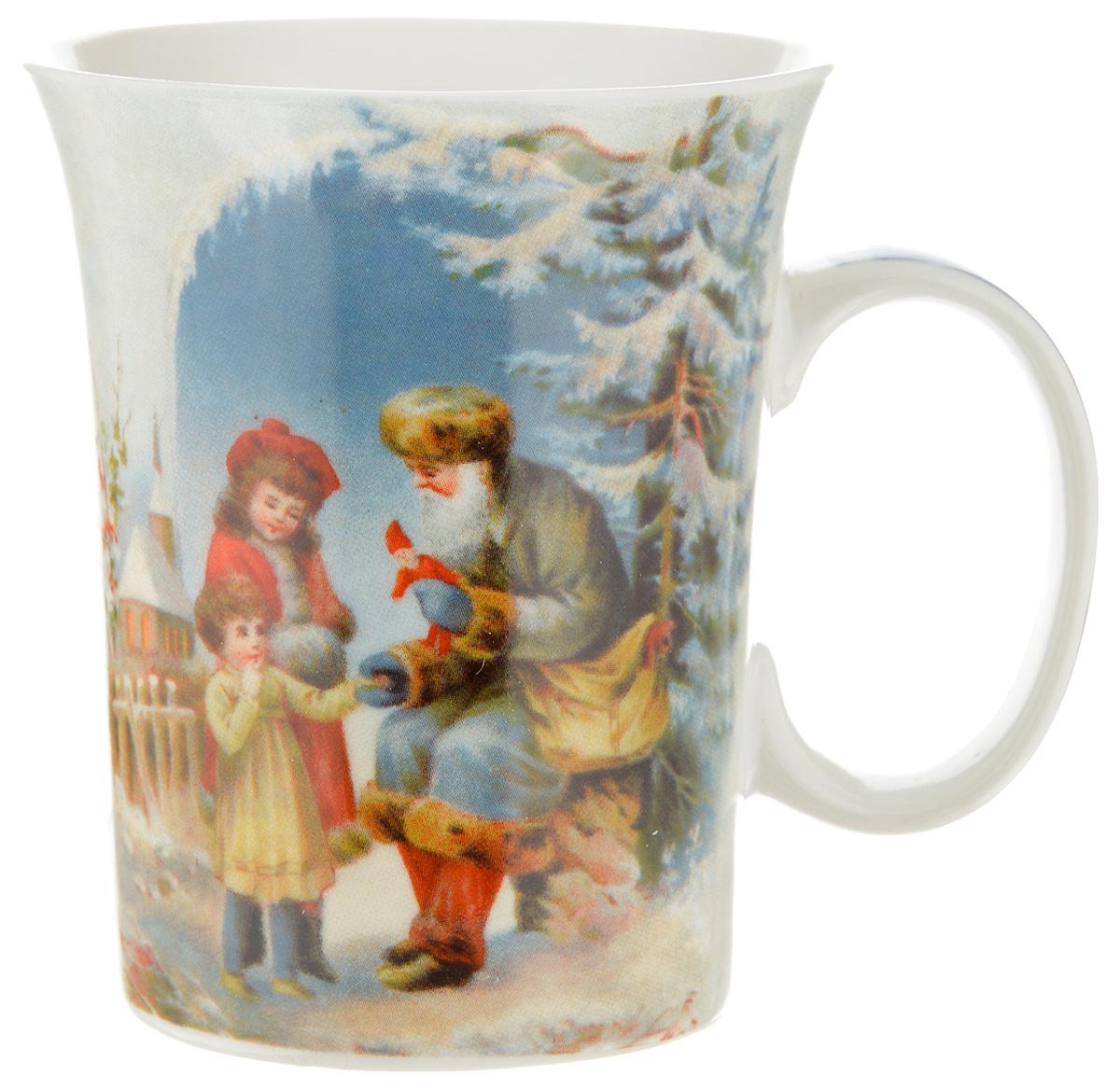 Кружка Lillo Дед Мороз и дети, 350 мл216041_дед Мороз и детиКружка Lillo Дед Мороз и дети выполнена из высококачественной керамики с глазурованным покрытием. С внешней стороны изделие декорировано красивым новогодним рисунком. Такая кружка станет приятным подарком к Новому Году и согреет вас холодными зимними вечерами. Диаметр (по верхнему краю): 8,5 см.Высота кружки: 10,5 см.
