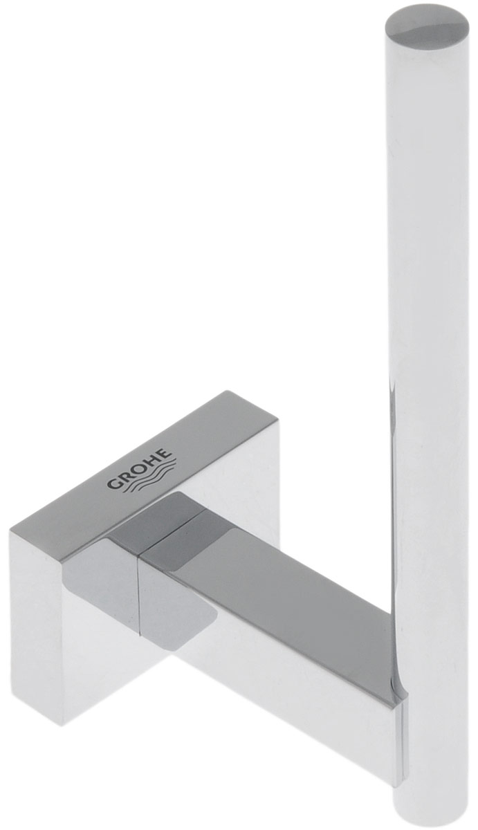 """Держатель Grohe """"Essentials Cube"""" предназначен специально для запасного рулона туалетной бумаги. Изделие выполнено из высококачественного металла и имеет скрытое крепление. Благодаря строгому и лаконичному дизайну, а также ослепительному хромированному покрытию StarLight он будет великолепно смотреться в интерьере вашей ванной комнаты долгие годы."""