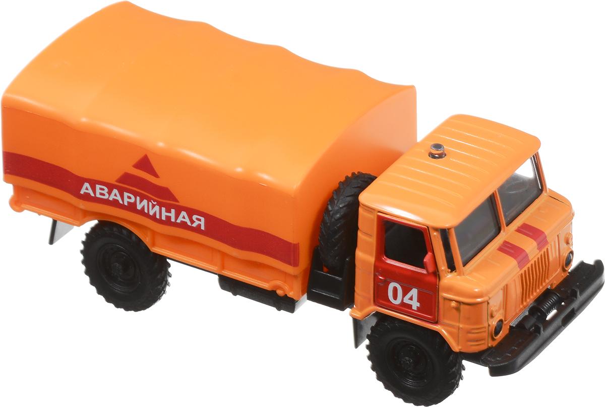 ТехноПарк Машинка инерционная ГАЗ-66 Аварийная машина газ 66 аварийная технопарк