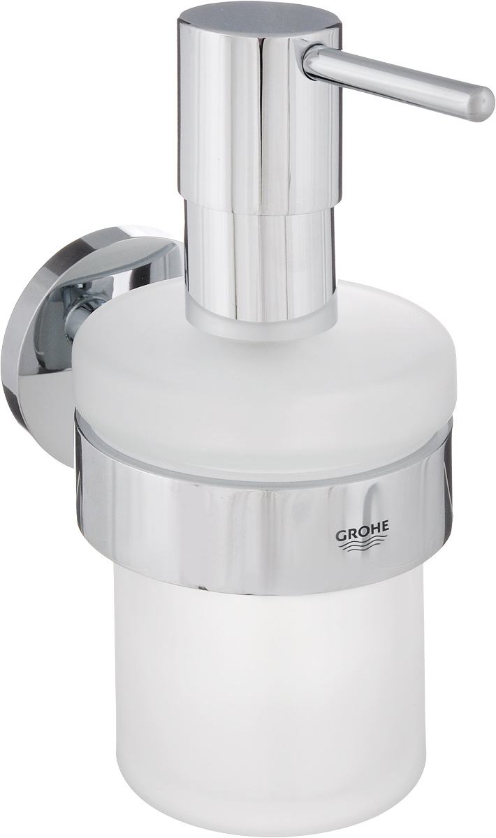 Диспенсер для жидкого мыла Grohe Essentials, с держателем, 200 мл диспенсер для жидкого мыла axentia vanja 17 х 7 5 х 7 5 см