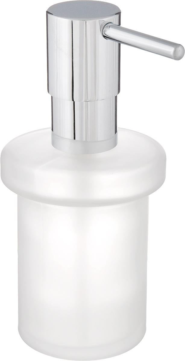 """Диспенсер для жидкого мыла Grohe """"Essentials"""" изготовлен из высококачественного матового стекла. Дозатор выполнен из прочного металла с хромированным покрытием StarLight. Диспенсер очень удобен в использовании, достаточно лишь перелить жидкое мыло в емкость, а когда необходимо использование мыла, легким нажатием выдавить нужное количество.Диспенсер для жидкого мыла Grohe """"Essentials"""" стильно украсит интерьер, а также добавит в обычную обстановку модный акцент."""