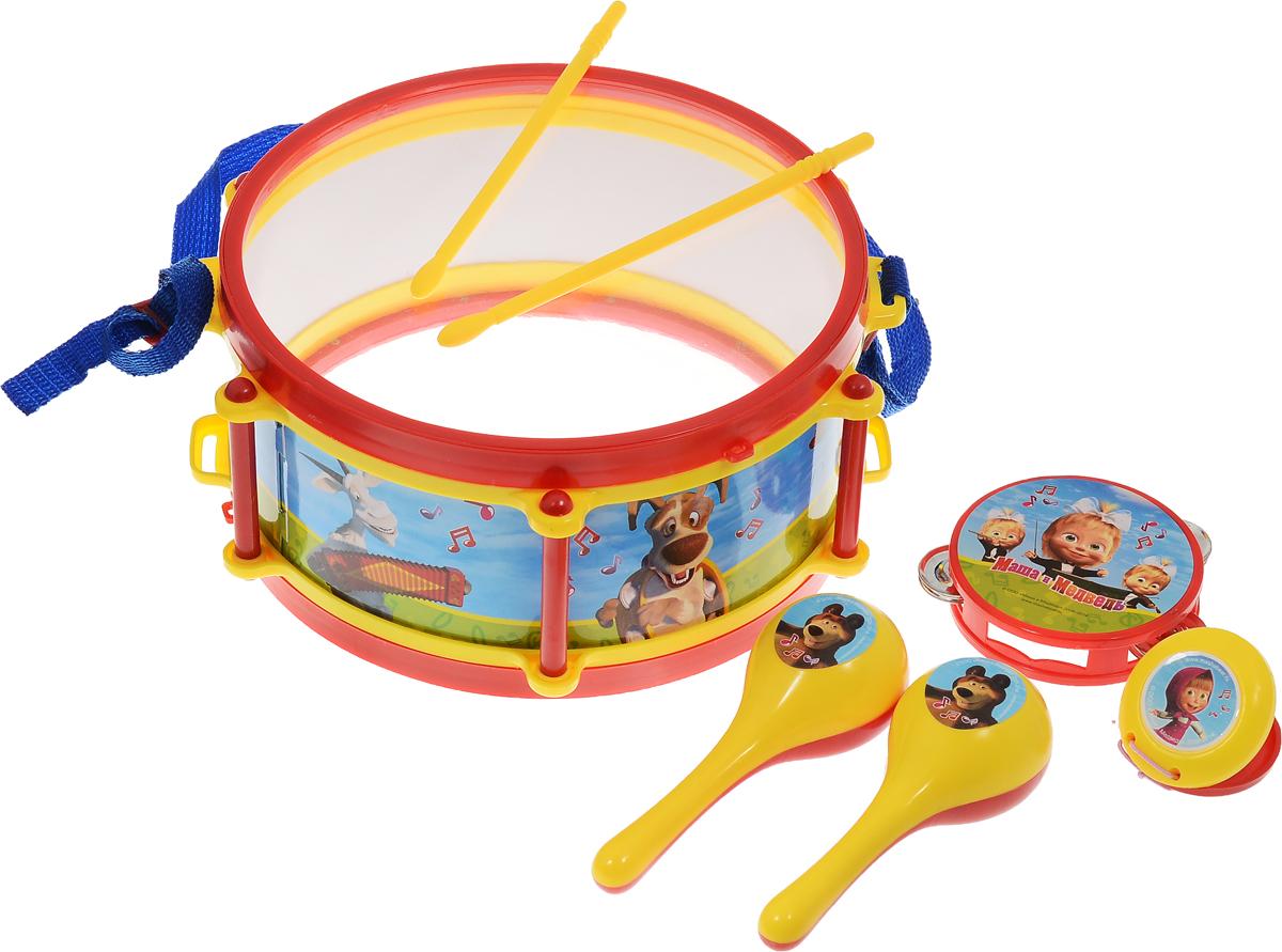 Играем вместе Набор музыкальных инструментов Маша и Медведь 7 предметов - Музыкальные инструменты