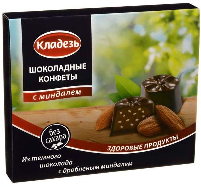 Кладезь шоколадные конфеты с дробленым миндалем, 100 г конфеты шоколадные kinder choco bons 46 г