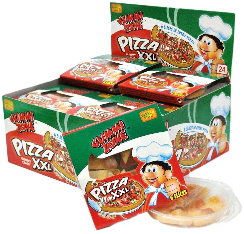 Gummy Zone мармелад большая пицца, 24 шт по 23 гифи082Мармелад Gummi Zone – удивительно вкусный жевательный мармелад, выполненный в форме знаменитой Пиццы. Мармеладная Пицца– это яркое лакомство с насыщенем вкусом летних фруктов. Мармелад Gummy Zone относится к категории полезных лакомств. Он содержит натуральный пчелиный воск, богатый витаминами, необходимыми для организма аминокислотами и кальцием. Таким образом, пользы и веселья от мармеладной Пиццы Gummi Zone значительно больше, чем от настоящей. Продукт полностью готов к употреблению. Индивидуальная упаковка делает его удобным, чтобы перекусить в любое время и в любом месте.