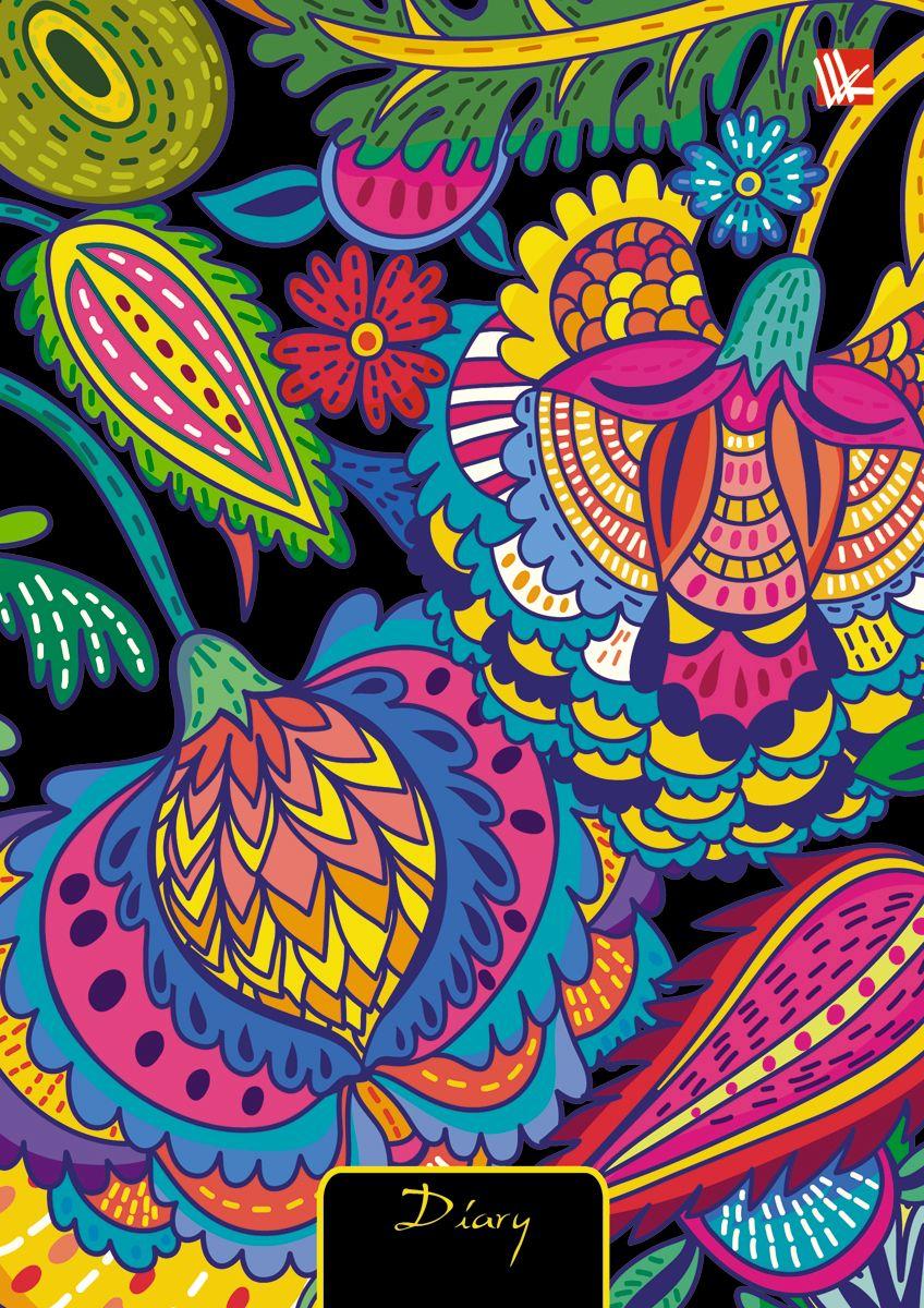 Канц-Эксмо Ежедневник Графика Чудесный орнамент недатированный 128 листов формат А6+ канц эксмо ежедневник графика орхидеи недатированный 160 листов формат a5