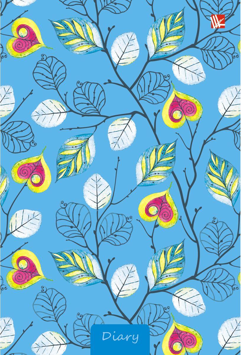 Канц-Эксмо Ежедневник Орнамент Листочки-сердечки недатированный 112 листов тетради канц эксмо темно красная а5 200листов тетради с пластиковой обложкой