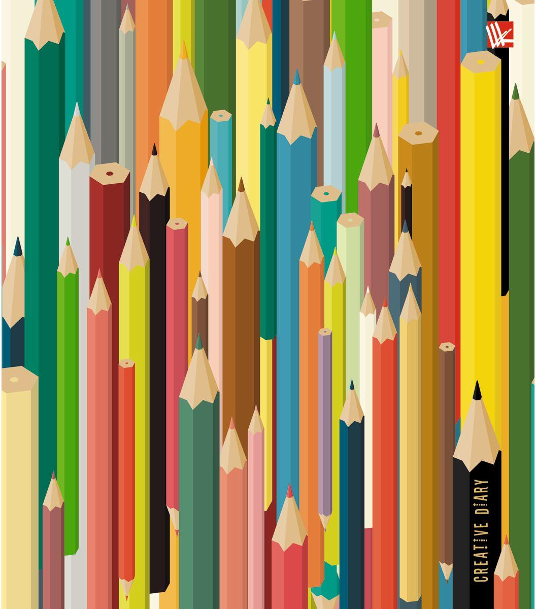 Канц-Эксмо Ежедневник Графика Цветные карандаши недатированный 128 листов ежедневники канц эксмо творческий ежедневник а5 146х167 с раскрасками графика абстрактный узор 128 листов