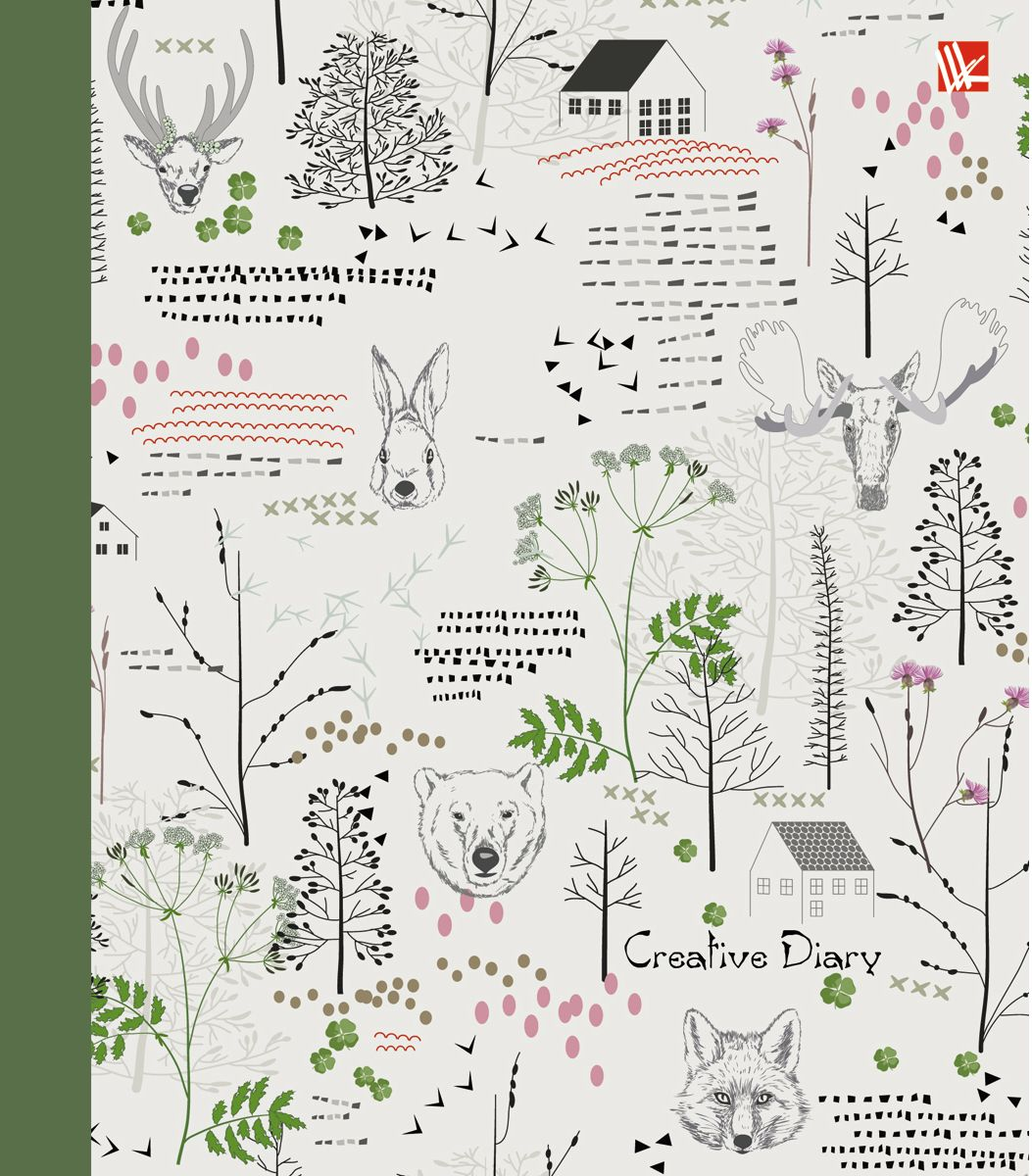 Канц-Эксмо Ежедневник Графика Лес чудес недатированный 128 листов канц эксмо ежедневник графика орхидеи недатированный 160 листов формат a5
