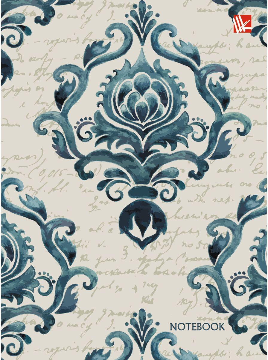 Канц-Эксмо Записная книжка Винтажный орнамент 96 листов в клетку записная книжка а6 10 14см 46л клетка anan the lonely wolf картонная обложка на сшивке