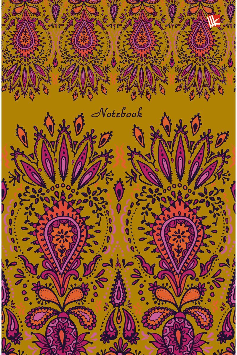 Канц-Эксмо Записная книжка Орнамент Роскошь 112 листов в клетку канц эксмо записная книжка лисички орнамент в линейку 80 листов формат а6
