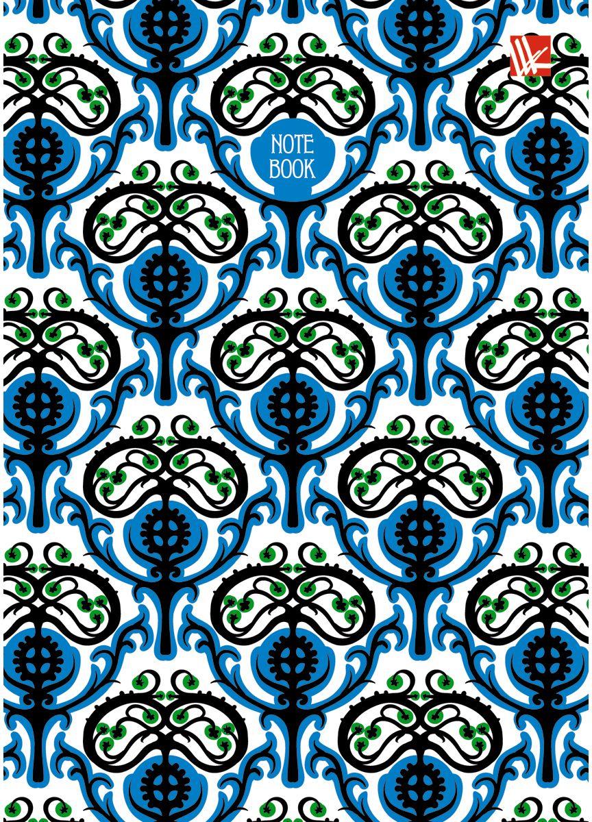 Канц-Эксмо Записная книжка Орнамент Ярко-синий узор 80 листов в клеткуКЗ6802152Записная книжка в твердом переплете А6, 80 листов. Обложка с глянцевой ламинацией. Форзацы белые. Бумага – офсет 60 г/м2, клетка. Сшитый блок.