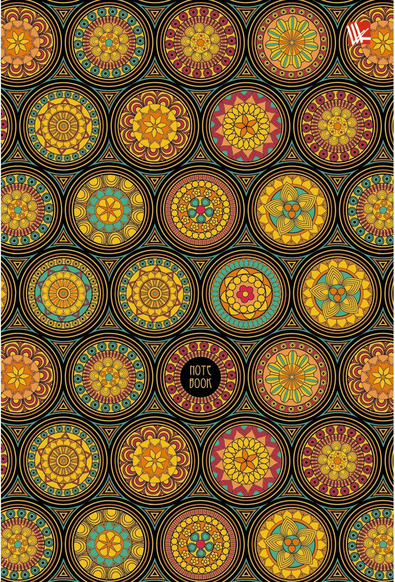 Канц-Эксмо Записная книжка Орнамент Блестящий калейдоскоп 80 листов в клетку записные книжки канц эксмо книга для записей с поролоном 80 листов орнамент модерн букеты