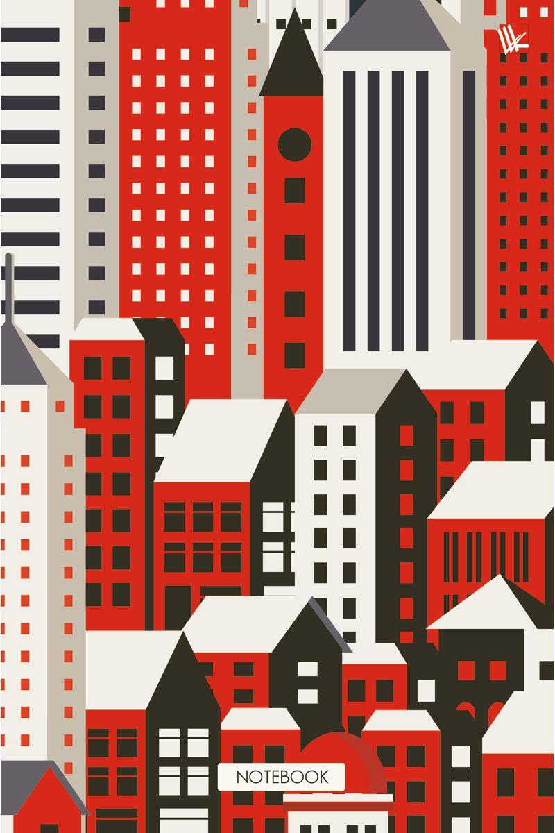 Канц-Эксмо Записная книжка Графика Город контрастов 160 листов в клетку