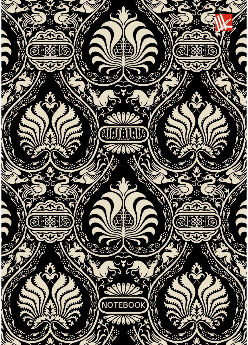 Канц-Эксмо Записная книжка Орнамент Арт-деко 80 листов в клетку книга для записей с поролоном 80 листов орнамент разноцветные зонтики канц эксмо