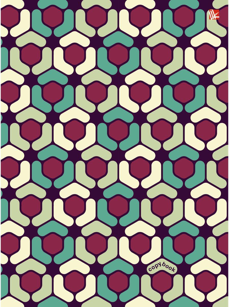 Канц-Эксмо Тетрадь Геометрический орнамент 100 листов в клеткуПБ1004371Тетрадь на кольцах со сменный блоком А5, 100 листов. Твердая обложка, скругленный корешок, 4 кольца.