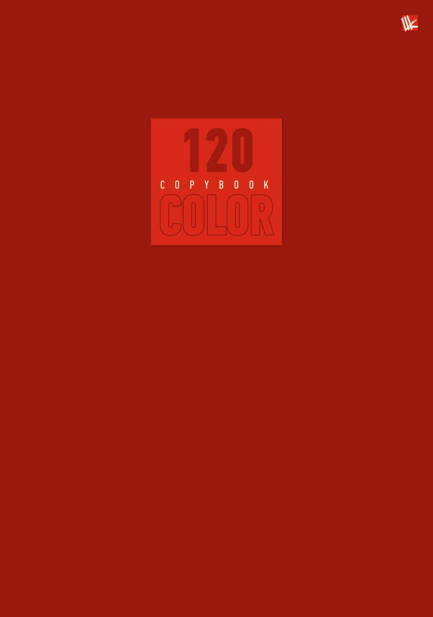 Канц-Эксмо Тетрадь Стиль и цвет 120 листов в клетку цвет красный