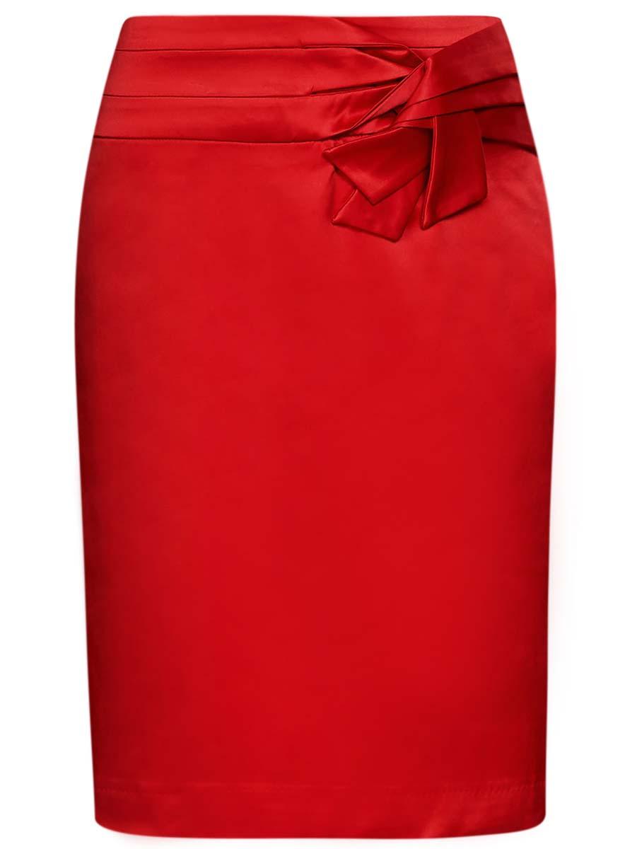 Юбка oodji Collection, цвет: красный. 21601302/32700/4500N. Размер 36 (42-170) платье oodji collection цвет черный белый 24001104 1 35477 1079s размер l 48