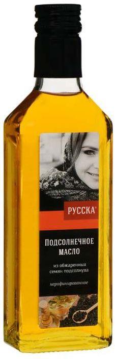 Русска масло подсолнечное из обжаренных семян подсолнуха, 250 г кокосовое масло нерафинированное baraka 250 г