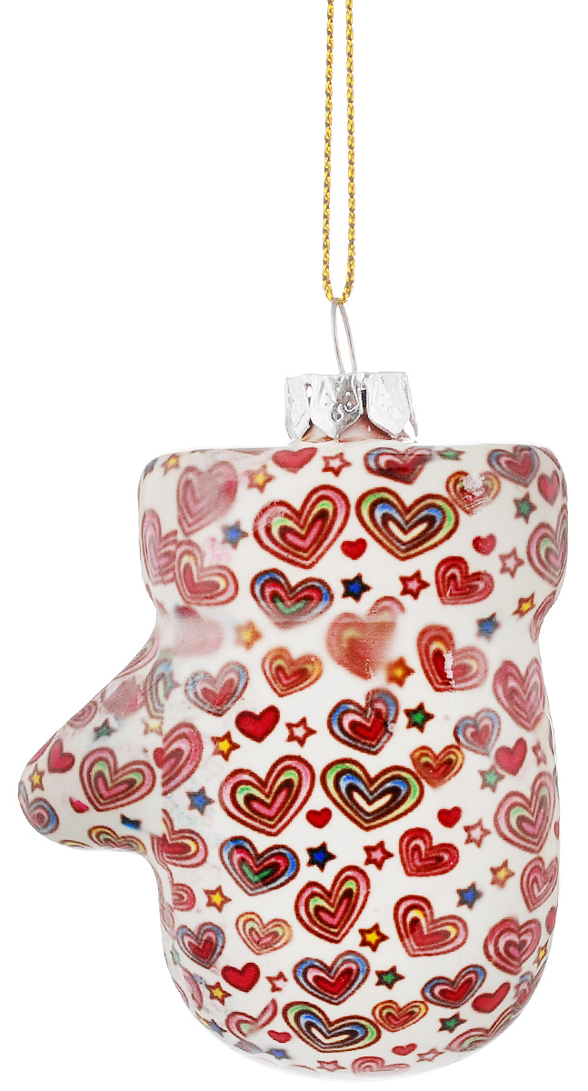Украшение новогоднее подвесное Lillo Рукавичка, высота 7,5 смGL211011-2.5Н_белый с разноцветными сердечкамиНовогоднее подвесное украшение Lillo Рукавичка выполнено из керамики в форме рукавички. С помощью специальной петельки украшение можно повесить в любом понравившемся вам месте. Но, конечно, удачнее всего оно будет смотреться на праздничной елке. Елочная игрушка - символ Нового года. Она несет в себе волшебство и красоту праздника. Создайте в своем доме атмосферу веселья и радости, украшая новогоднюю елку нарядными игрушками, которые будут из года в год накапливать теплоту воспоминаний.