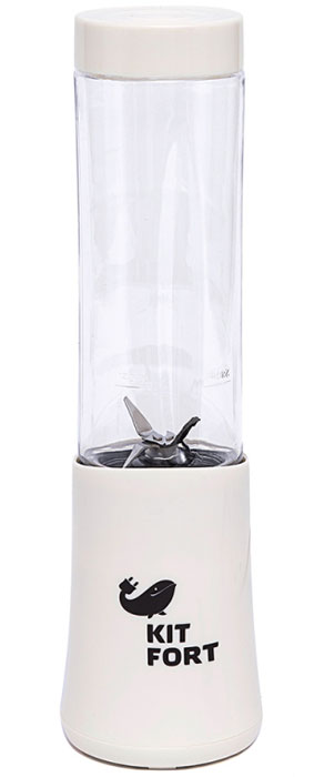 Kitfort КТ-1311-3 Shake & Take, WhiteблендерКТ-1311-3Блендер Kitfort КТ-1311 Shake & Take предназначен для измельчения, смешивания, взбивания,гомогенизации, замеса жидкого теста, смешивания коктейлей, колки льда, приготовления смузи, протеиновых смесей и детского питания.Преимуществами блендера являются привлекательный спортивный стиль и удобство в использовании, компактные размеры при большой мощности, бутылка с крышкой и нож из нержавеющей стали.Включение блендера производится нажатием на бутылку, установленную на моторный блок. После приготовления смеси нет необходимости переливать содержимое: бутылку можно закрыть навинчивающейся крышкой, после чего она превращается в удобный контейнер для хранения и переноски приготовленной смеси. Вы можете поместить бутылку в холодильник или взять с собой в спортзал. Бутылка влезает в подстаканник автомобиля.
