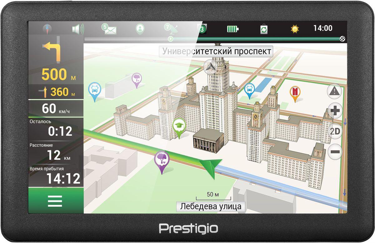 Prestigio GeoVision 5066, Black автомобильный навигаторPGPS5066CIS04GBNVВоспользуйтесь мощными функциями Prestigio GeoVision 5066, заключенными в стильный корпус. 3D-карты, голосовые подсказки и базы достопримечательностей сделают ваше путешествие безопасным и легким, в то время как стильный внешний вид устройства подчеркнет ваш хороший вкус.Получайте все выгоды 3D-карт и хорошо настроенной навигации от Navitel. Поиск места назначения становится легкой задачей благодаря визуализации вашего окружения на устройстве. Не пропустить нужный поворот вам помогут реалистичные изображения развязок и подсказки по полосам движения.Купив Prestigio GeoVision 5066, вы получаете настоящего гида! Миллионы объектов - туристические места, автозаправочные станции, гостиницы и многое другое уже заботливо установлена в вашем новом устройстве.На 5-дюймовом экране (800x480) удобно наблюдать за дорогой и легко вводить адреса. С помощью удобной функции интеллектуального поиска вы можете выполнить поиск необходимого места не только по адресу, но и по координатам, перекресткам, местах поблизости или предыдущим поисковым запросам.Prestigio GeoVision 5066 оснащен бортовым компьютером, который выводит текущую скорость вместе с ограничением скорости и предполагаемым временем прибытия в пункт назначения.Навигатор предупреждает вас о ближайших радарах, лежачих полицейских и камерах видеозаписи. Эти функции обеспечивает встроенная база данных, которую можно бесплатно обновлять в Интернете.Покрытие устройства имеет тактильные и визуальные преимущества, а так же защищает устройство от царапин.Навигатор Prestigio GeoVision 5066 имеет бесплатное обновление карт Белоруссии, России, Украины, Казахстана, Финляндии, Швеции, Норвегии, Дании, Исландии.Процессор: MStar MSB2531A Cortex A7, 800 МГцОбъем установленной оперативной памяти: 128 МБМаксимальный объем карты памяти: 32 ГБ Операционная система: Microsoft Windows CE 6.0Ёмкость аккумулятора: 950 мАч