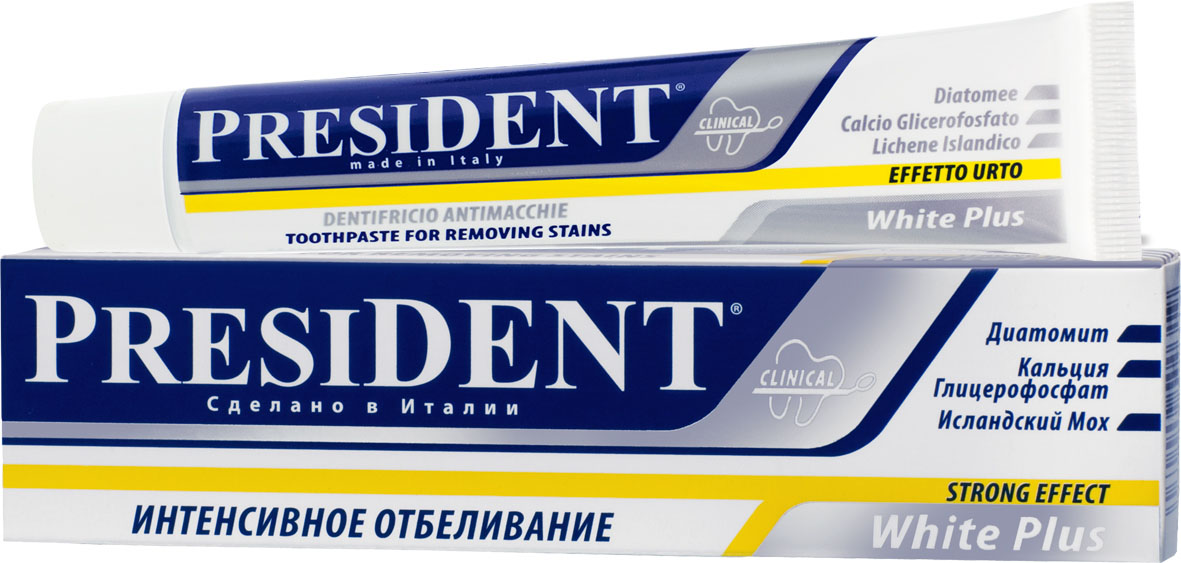 President Зубная паста Уайт+, 30 мл пленка тонировочная president 5% 0 5м х 3м