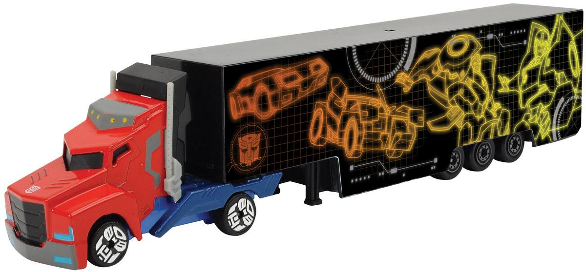 Dickie Toys Трейлер Optimus Prime цвет желтый оранжевый simba dickie optimus prime