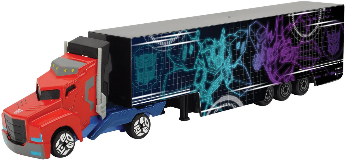 Dickie Toys Трейлер Optimus Prime цвет голубой фиолетовый simba dickie optimus prime
