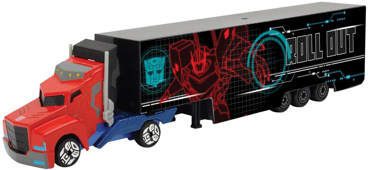 Dickie Toys Трейлер Optimus Prime цвет красный голубой simba dickie optimus prime