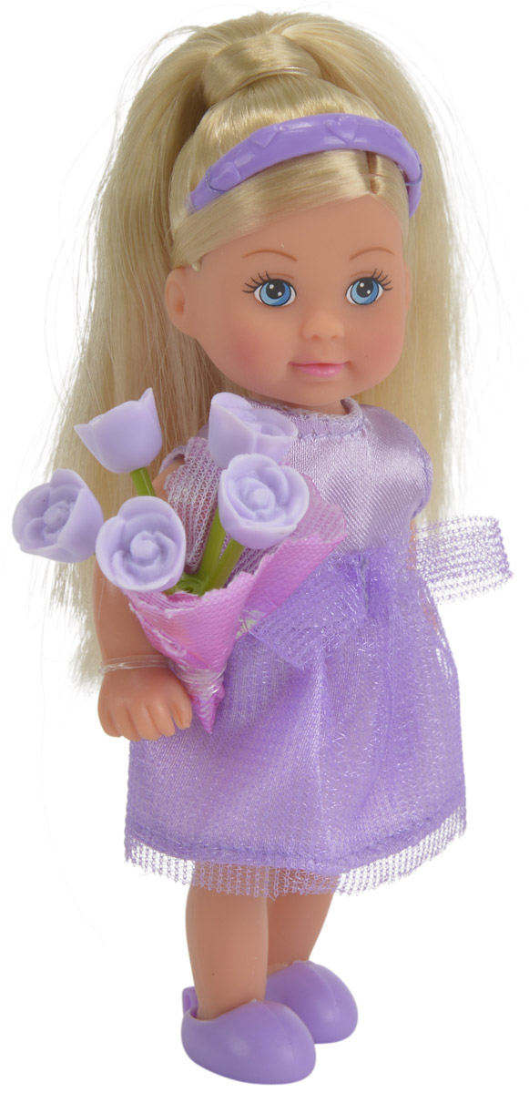 simba кукла еви с подружкой Simba Мини-кукла Еви подружка невесты цвет платья фиолетовый