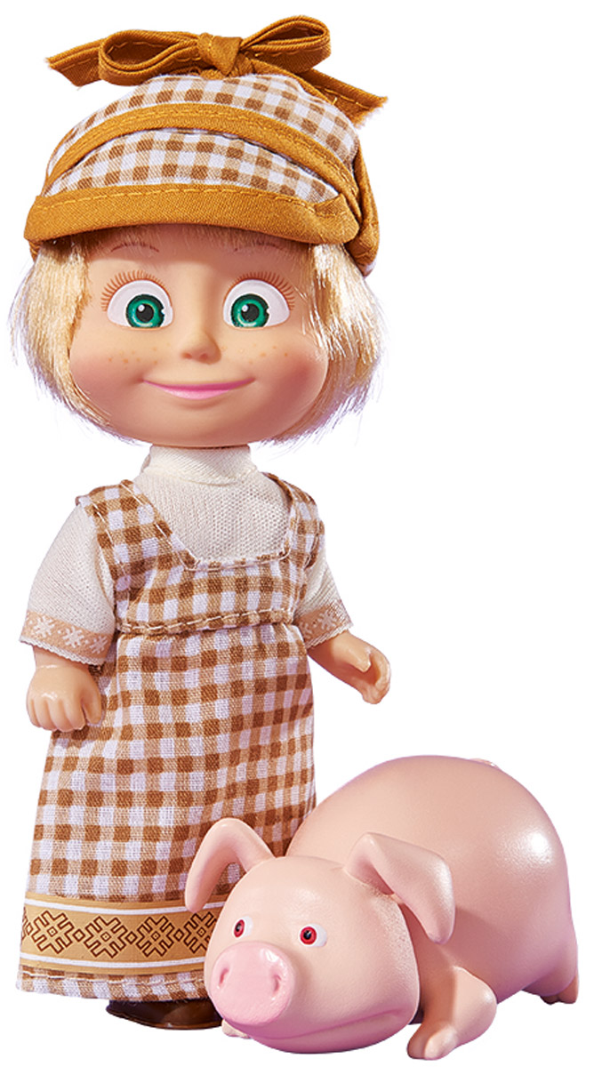 Simba Мини-кукла Маша со свинкой simba мини кукла маша с белкой