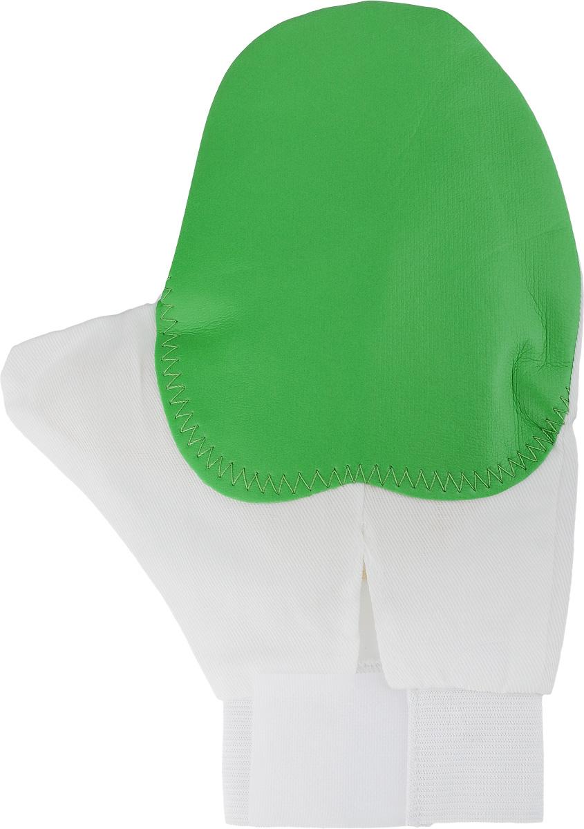 Рукавица для чистки животных Каскад, массажная, с антистатическим эффектом, цвет: зеленый, белый, желтый игрушка для животных каскад мячик пробковый цвет зеленый 3 5 см