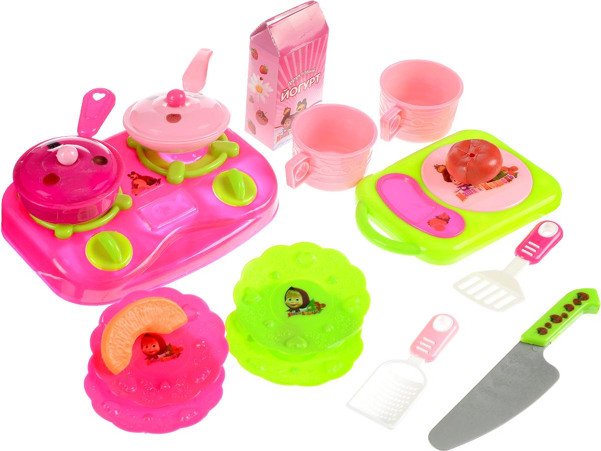 Играем вместе Игрушечный набор посуды и аксессуаров Маша и Медведь игрушечная посуда играем вместе набор посуды маша и медведь