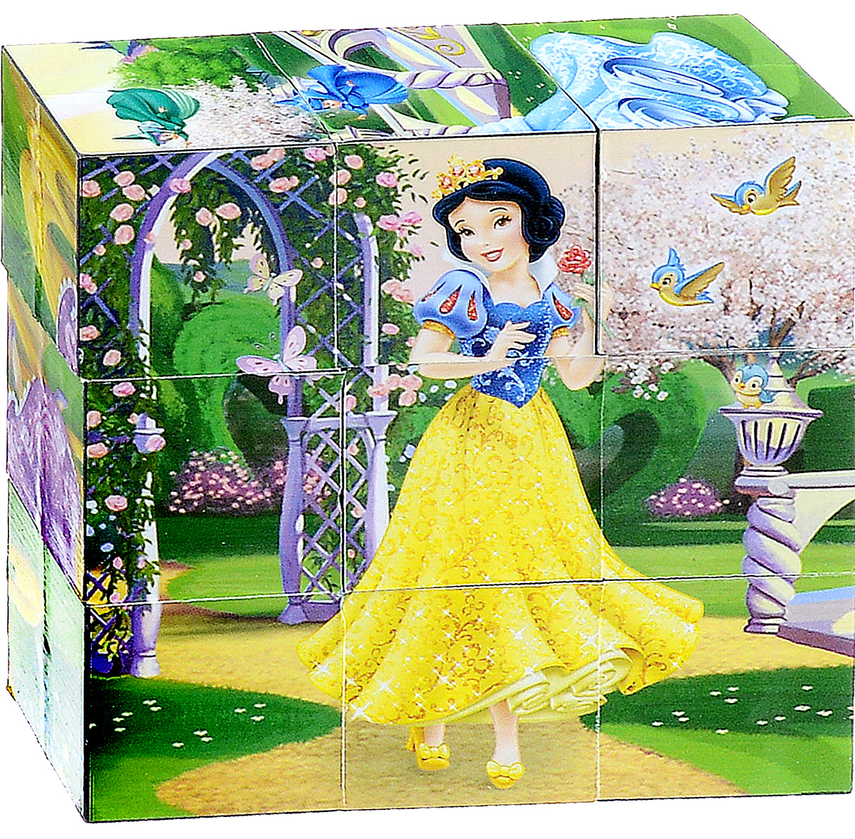 Играем вместе Кубики Disney Принцесса 02009 играем вместе фигурка для ванной играем вместе disney джейк
