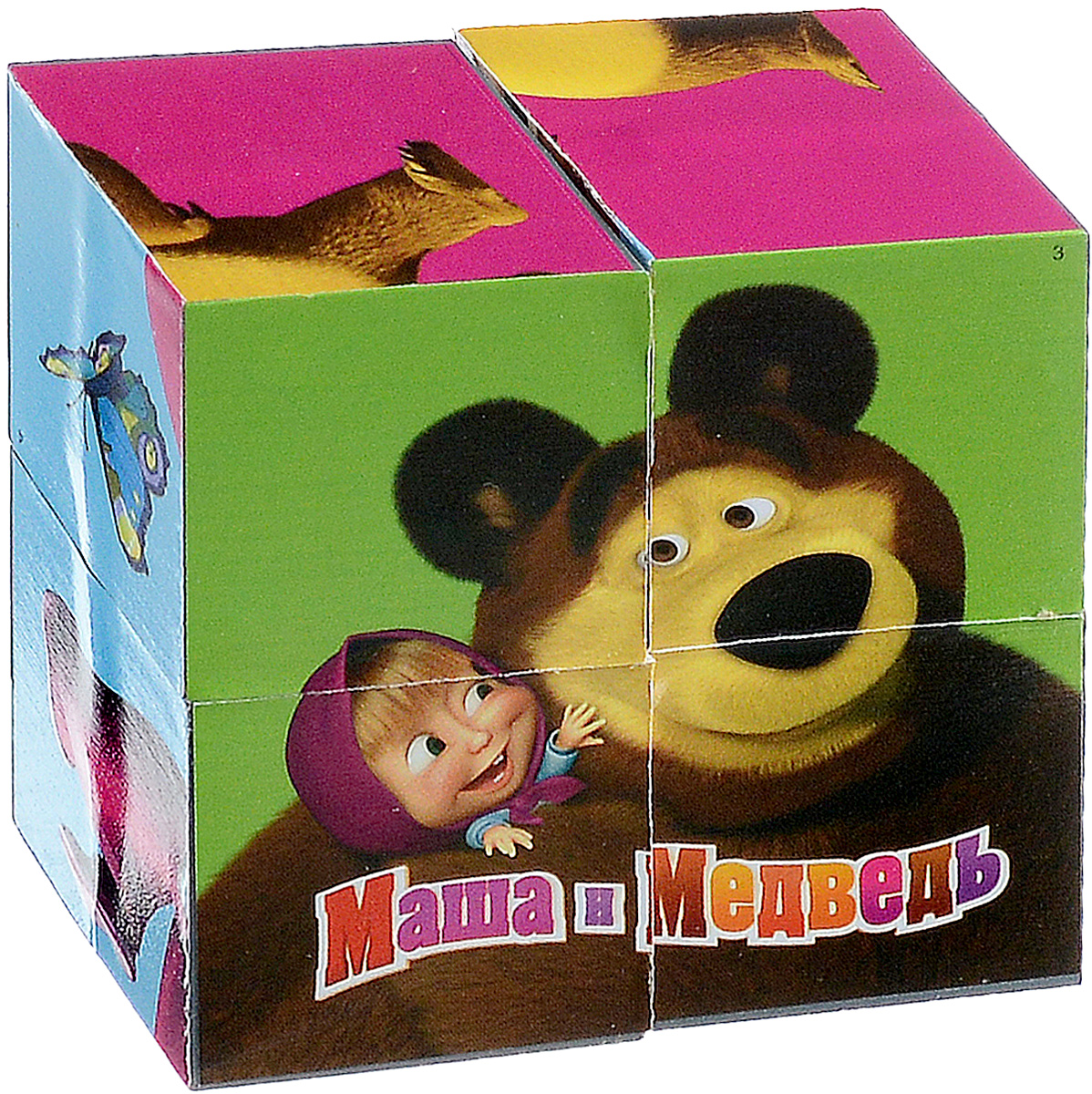 Играем вместе Кубики Маша и Медведь 01318