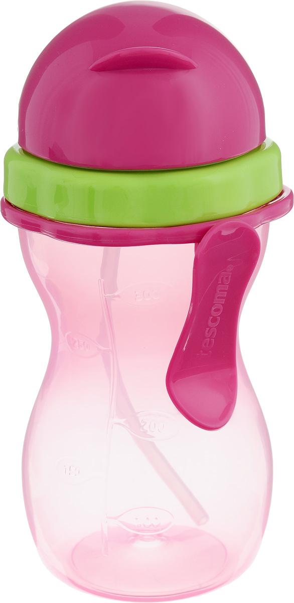 Бутылочка детская Tescoma Bambini, с трубочкой, цвет: зеленый, розовый, 300 мл668172.53Детская бутылочка Tescoma Bambini оснащена гибкой силиконовой трубочкой и уплотнением, шкалой для удобного отмеривания и зажимом для подвешивания. Изготовлена из высококачественного нетоксичного пластика.Подходит для использования в холодильнике и микроволновой печи (без крышки). Контейнер можно мыть в посудомоечной машине. Крышку, трубочку и уплотнение мыть под проточной водой. Подходит для детей от 12 месяцев.