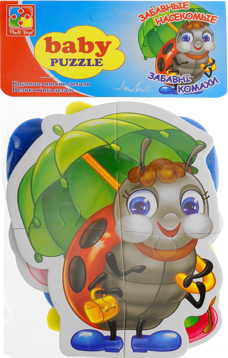 Vladi Toys Мягкие пазлы Baby puzzle Насекомые vladi toys пазл для малышей ягоды фрукты 4 в 1