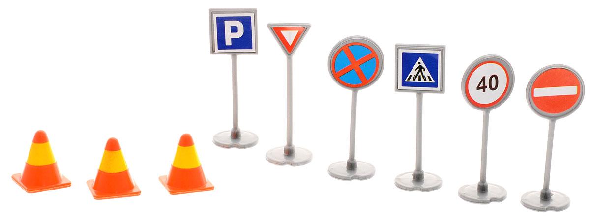 ТехноПарк Набор Дорожные знаки игровой набор big big дорожные знаки для детей 6 шт 69 см