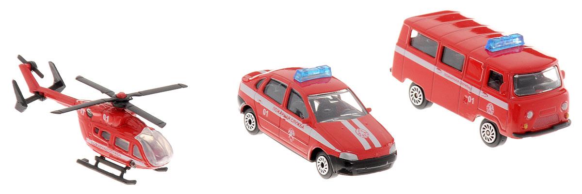 ТехноПарк Набор машинок Пожарный транспорт 3 шт в городе мурманске подержаный микроавтобус до 9мест