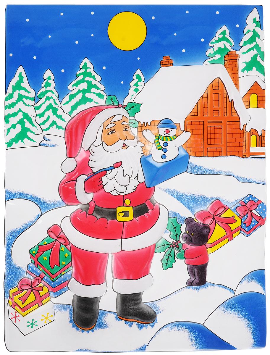 Панно Winter Wings Дом Деда Мороза, 53 х 37 см панно winter wings me to you мишка с подарками 63 х 55 см