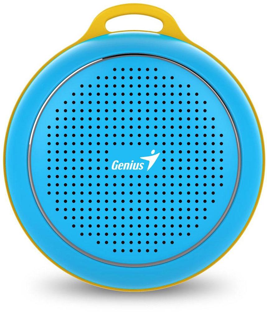 Genius SP-906BT, Blue портативная колонка31731072101Невероятная громкость и глубокие басы благодаря усовершенствованной конструкции. Колонка Genius SP-906BT дает заряд отличного настроения. Пять ярких цветовых исполнений. Размер примерно с хоккейную шайбу.Интеллектуальная технология непрерывного звука: чистые высокие и низкие частоты без пропусков. Технология пространственного звучания позволяет оказаться в центре происходящего. Благодаря встроенному усилителю громкий звук колонки SP-906BT проникает в самое сердце.Прочный и гладкий карабин для подвешивания выполнен из стали и алюминия. Он устойчив к ржавчине и рассчитан на долгую службу, а силиконовый ободок обеспечивает одновременно гибкость и прочность. Сочетание жесткости и мягкости, универсальная колонка Genius SP-906BT!Благодаря передовой защите цепей и технологии Bluetooth 4.1 соединение устанавливается еще быстрее (стандартное расстояние для беспроводной работы: 10 м). Колонка SP-906BT поддерживает все продукты с технологией Bluetooth и позволяет удобно слушать музыку.Одно нажатие кнопки - и вы ведете отчетливую беседу по телефону благодаря высокочувствительному микрофону и усилителю. Чтобы перезвонить, достаточно нажать эту кнопку еще раз.
