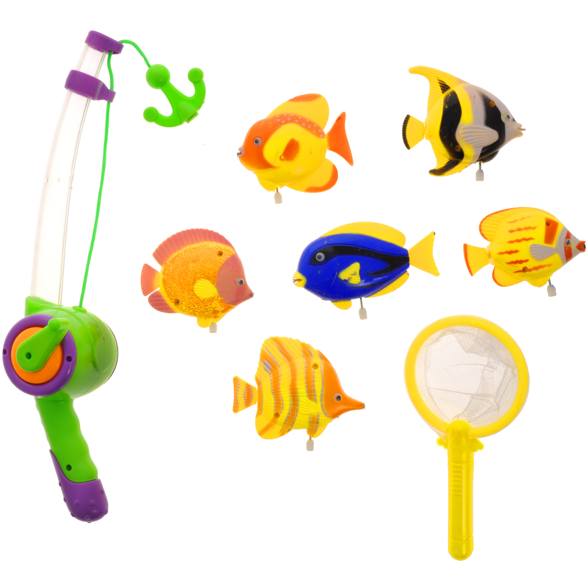 Играем вместе Игрушка для ванной Рыбалка Маша и Медведь цвет удочки салатовый фиолетовый игрушки для ванной играем вместе набор для купания маша и медведь