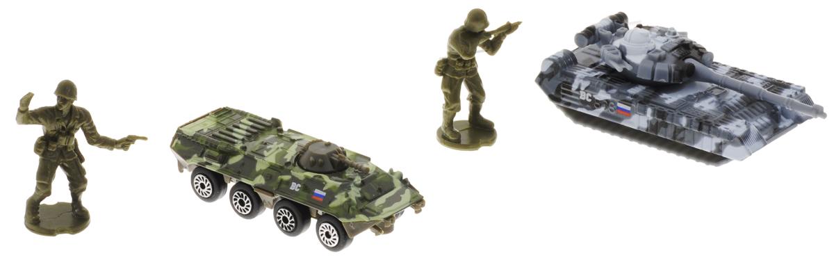 ТехноПарк Набор машинок Военная техника с 2 фигурками 2 шт