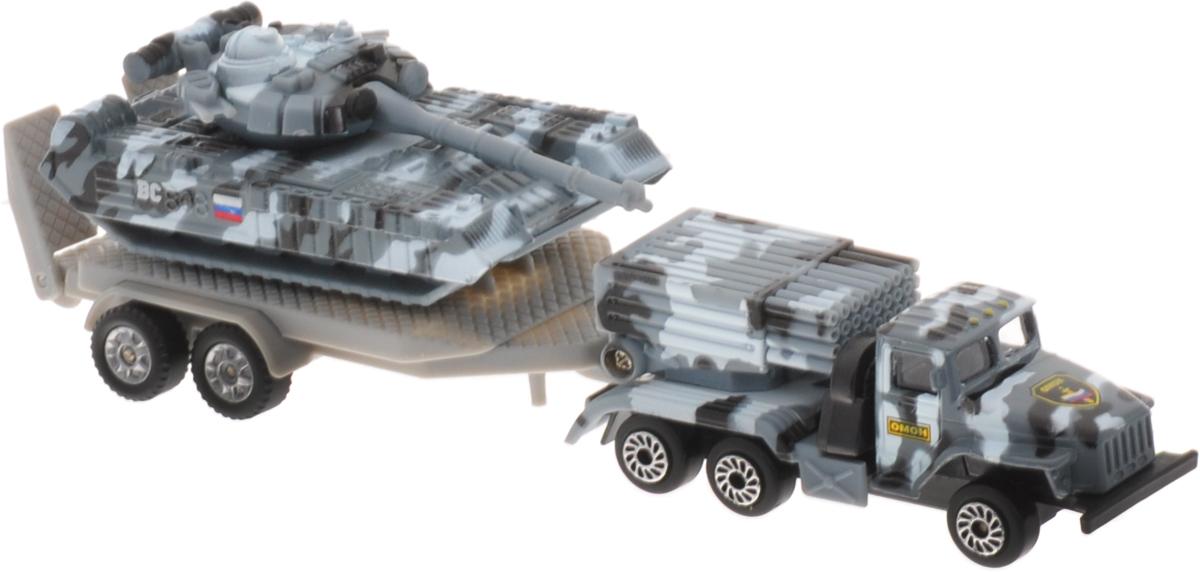 ТехноПарк Набор машинок Военная техника 2 шт SB-15-45 военная техника технопарк зил будка военная 12 см x600 h09129 r
