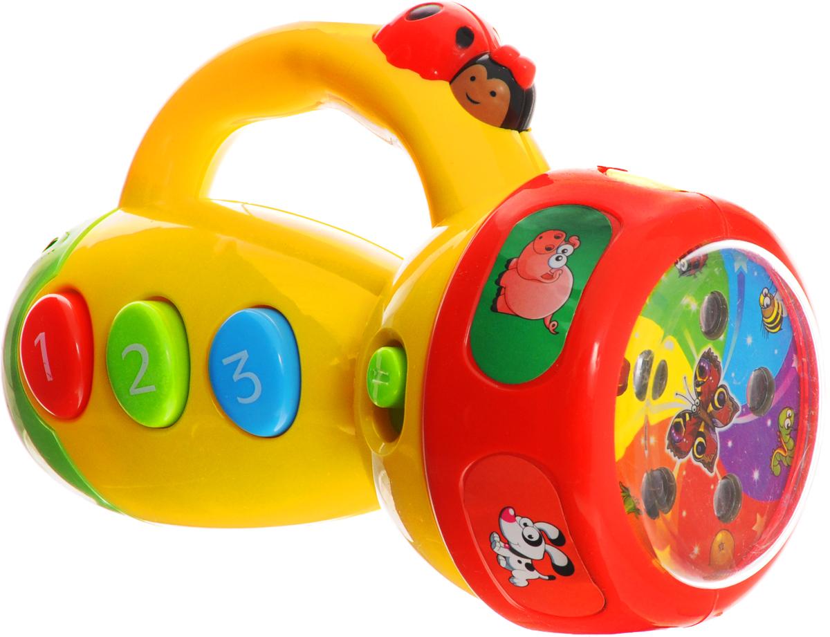 Умка Развивающая игрушка Музыкальный фонарик-проектор умка проектор купить