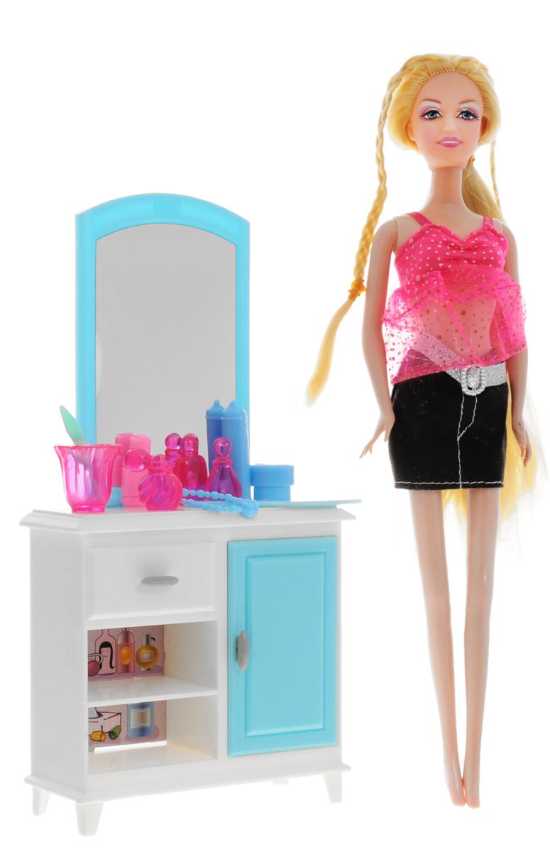 1TOY Туалетный столик с куклой Красотка кукольные домики 1toy дом для кукол с мебелью 2 секции 28 деталей 1toy красотка