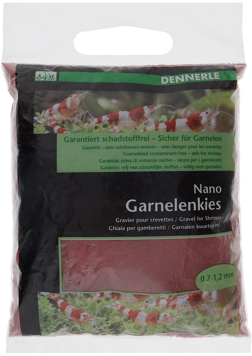 Грунт для аквариума Dennerle Nano Garnelenkies, натуральный, цвет: красный, 0,7-1,2 мм, 2 кг грунт для аквариума dennerle kristall quarz натуральный цвет темно коричневый 1 2 мм 5 кг